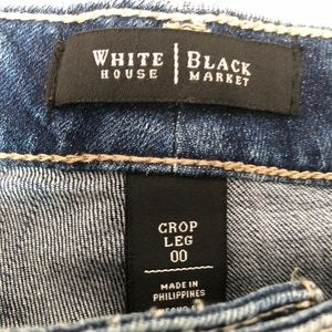 White House Black Market Jeans - WHITE HOUSE BLACK MARKET SEQUIN CROP LEG JEANS